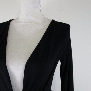 ASOS Dresses - Asos Solid Black Deep V Neck Tulip Sheath Dress 4
